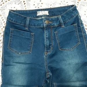 Free People highwaisted skinny stretch jeans